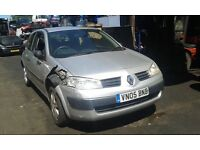 2005 Renault Megane 1.4 Extreme 3dr silver ted69 BREAKING FOR SPARES