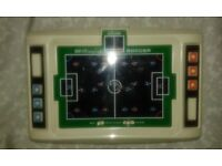 Vintage, handheld, football computer game.