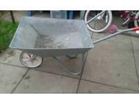 Galvanised wheel Barrow plastic wheel
