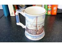 "Sadler England Porcelain Tankard ""The Anchor"""