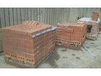 Red building bricks ×3 pallets. £80. 00 a pack.