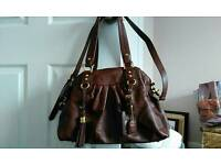 Clarkes brown leather handbag