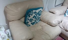 Cream Sofa Leather Suite
