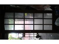 Bevelled Glass Heavy Hardwood Door. 33 X 77.5 X 1.5 inch (84 X 197 X 4cms) Tel 07541 030511