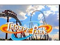 2x Thorpe park tickets 30th July