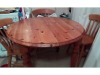 Solid pine extending table - NO Chairs