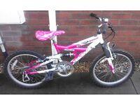 Girls Magna Sparkler Dual Suspension 20 Inch Wheel Mountain Bike Bicycle