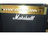 A MARSHALL MG SERIES 50 DFX COMBO AMP.