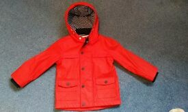 Children's Red Fishermen's jacket from Marks & Spencer. Age 3-4yrs