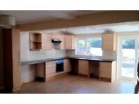 Kitchen Units - Light Beech effect (COOKER & EXTRACTOR HOOD NOT INCLUDED)