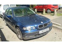 2003 BMW e46 316 ti compact 3dr auto 1.8 mystic blue mysticblau BREAKING FOR SPARES
