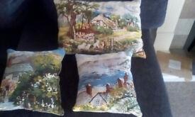 3 vintage/kitsch cushions