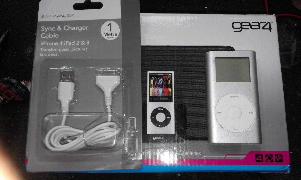 GEAR 4 streetparty 3 speaker with 4gb apple ipod