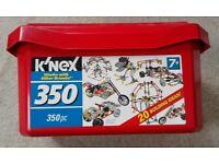 K'Nex 350pc Building Construction Tub Set, age 7+, knex, excellent condition