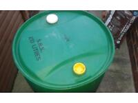 green 210 litre plastic barrels for sale ideal for water butts.£7.50 each or 2 for £10
