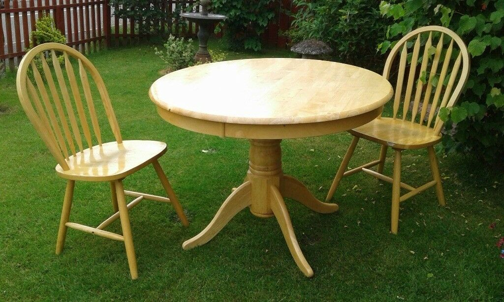 pine table and chairs pine for kitchen or dining room