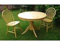 Pine Table and chairs ,pine ,for kitchen or dining room