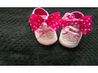 customised baby girl shoes