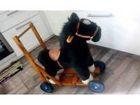 Baby walker horse on wheels