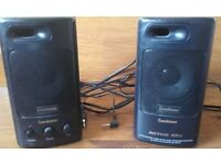 GOODMANS ACTIVE '65' POWERFUL 25WATTS SPEAKERS - COMPACT & PORTABLE 240V MAINS SUPPLY