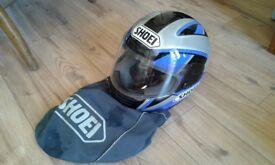 SHOEI motorcycle helmet blue/grey/black