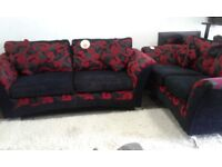 EX DISPLAY DFS SWIRLS SOFA SUITE DELIVERY FREE