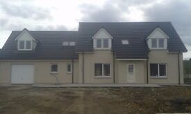 New large 4 bedroom house in large plot.Situated at the village of Oyne aberdeenshire