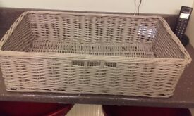 Grey Willow Storage Basket from Next.