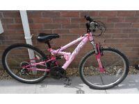 Girls Apollo FS24 Dual Suspension Mountain Bike Biccyle