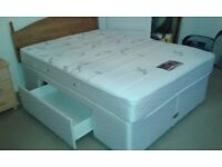 """Dreams """"starling"""" memory foam, pocket sprung double bed with 2 under bed storage drawers"""