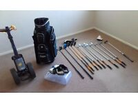 Golf set - bag, clubs, trolley