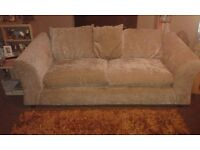 3+2 seater sofas,mink coloured,18 months old,good condition,with cushions.