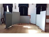 12 screens various sizes for flexible use in Drama or similar such as screening off hall.
