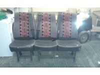 rear van seats for sale good condition built in seat belts