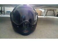Motorbike helmet, v.g.c with flip front!