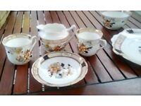 LOVELY ENLISH BONE CHINA TEA SET