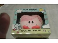 LITTLE MISS HUG BOOK AND TOY SET BY ROGER HARGREAVES