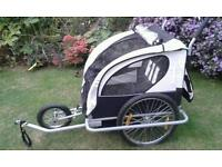 BIKE CHILD CARRIER TRAILER/DOUBLE BUGGY FOR 2 SMALL CHILDREN SOUTHEND OR LAINDON