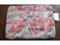 ~ Brand New ~ 15 inch Kipling Laptop Sleeve ~ Garden Happy ~ £20 ~