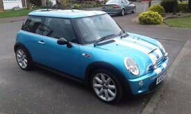 Mini Cooper s 1.6, full leather interior 2 tone, panoramic electric sunroof.alloys stunning, blue.