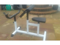 Curling bench,fully ajustable.hardly used.