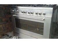 6 burner duel fuel range cooker fully working please read