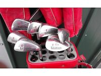 Browning 'Euroblade' clubs, 1, 3 & 5woods, 4-PW irons.