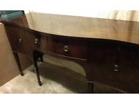 Antique Mahogany Bow Fronted Sideboard