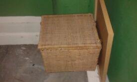 Large wicker storage basket