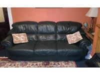 Leather Three and two seater sofas