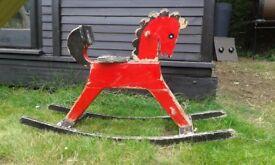 Vintage German Rocking Horse