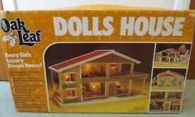 Vintage 1981 Oak Leaf Dolls House with Original Box.