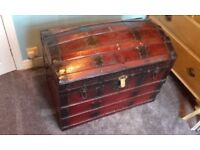 large antique dome trunk chest toy box