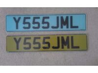 Private Number Plates Y555 JML